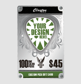 Clayton Custom Guitar Picks Gift Card