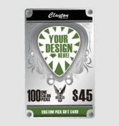 Clayton Custom Guitar Picks Gift Card
